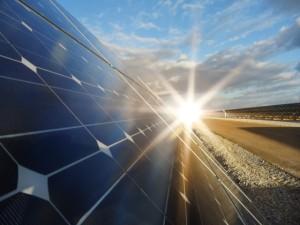 Solar-Panel-at-Sun-Set